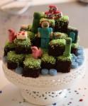 Helena gjorde en Minecraft tårta till grabben